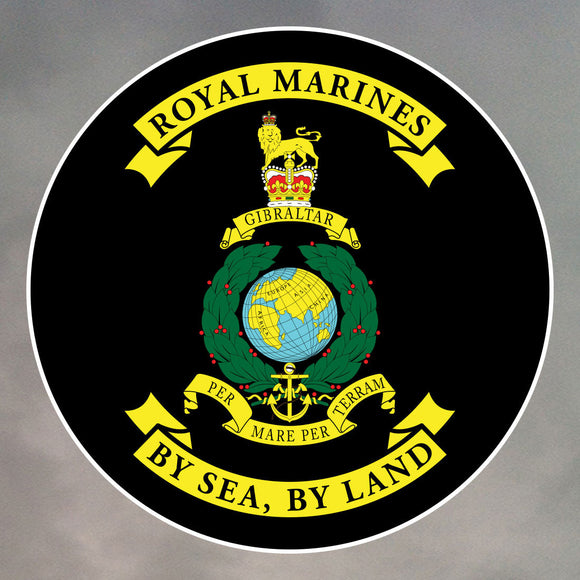 ROYAL MARINES ROUND STICKERS 0003