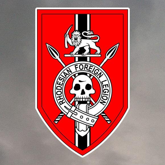 RHODESIAN FOREIGN LEGION DIE CUT STICKER 0009