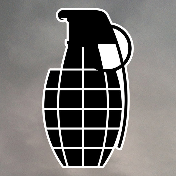 GRENADE DIE CUT STICKER 0011