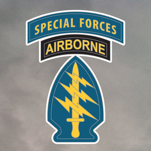 SPECIAL FORCES PATCHES DIE CUT STICKER 0011