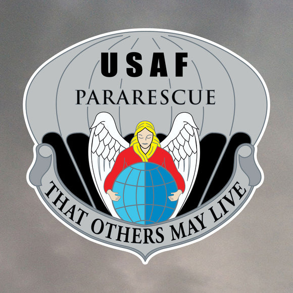 PARARESCUE BADGE DIE CUT STICKER 0015