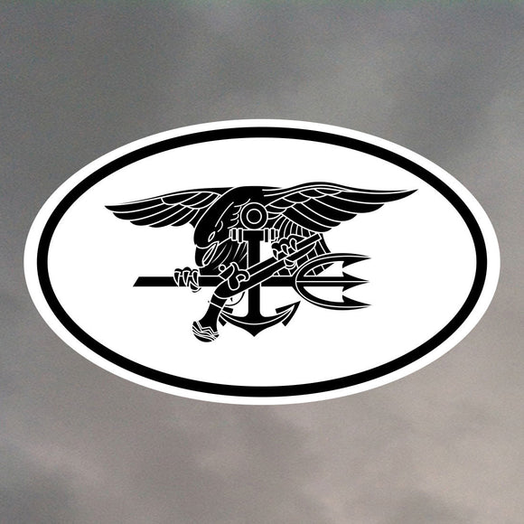 NAVY SEALS OVAL STICKER 0017