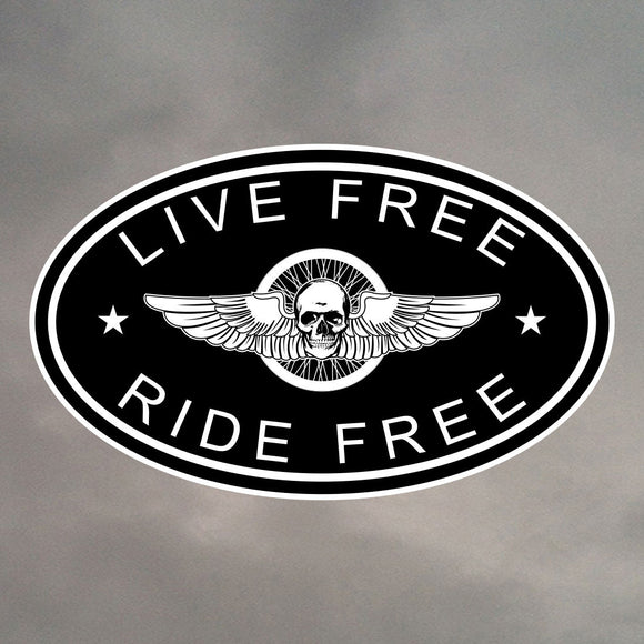LIVE FREE RIDE FREE OVAL STICKER 0025