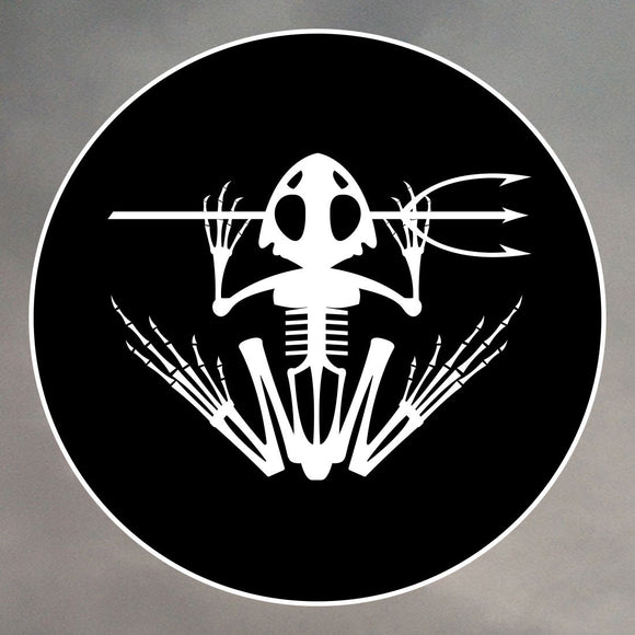 NAVY SEAL FROG SKELETON ROUND STICKERS 0036