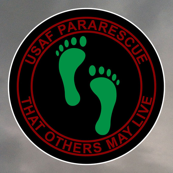Pararescue PJ Feet Stickers  0042