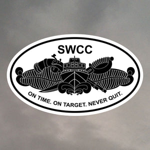 SWCC OVAL STICKER 0098