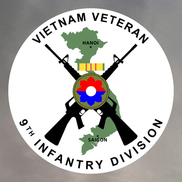 9th Infantry Division - Vietnam Veteran Stickers 0166