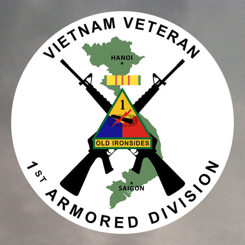1st Armored Division Vietnam Stickers 0172