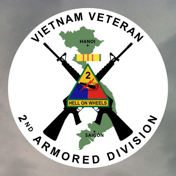 Vietnam Veteran Sticker - 2nd Armored