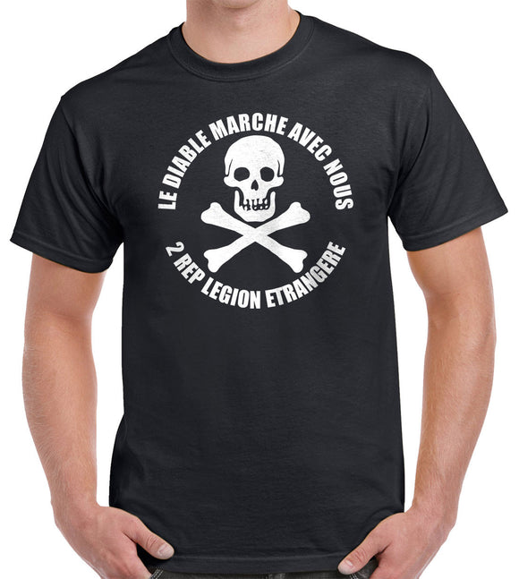Foreign Legion 2 REP Skull T-Shirt 0182