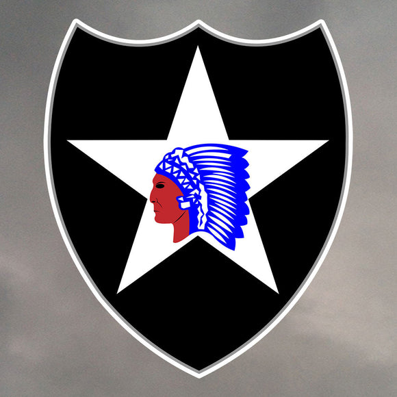 2ND INFANTRY DIVISION DIE CUT STICKERS 0194