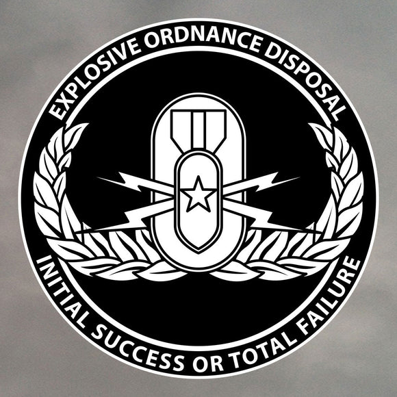EOD ROUND STICKER 0198