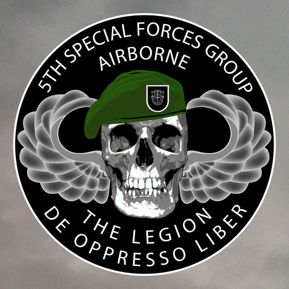 5th Special Forces Group Skull Stickers 0201