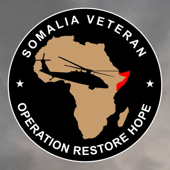 SOMALIA VETERAN ROUND STICKER 0208