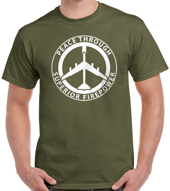 Peace Through Superior Firepower T-Shirt 0221