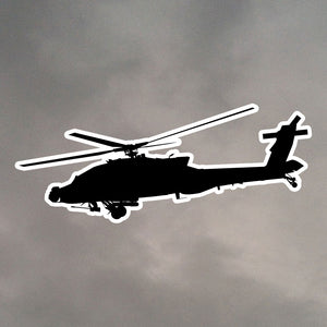 AH64 APACHE DIE CUT STICKER 0462