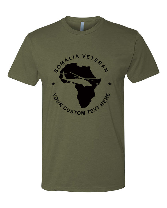 custom text somalia veteran tshirt