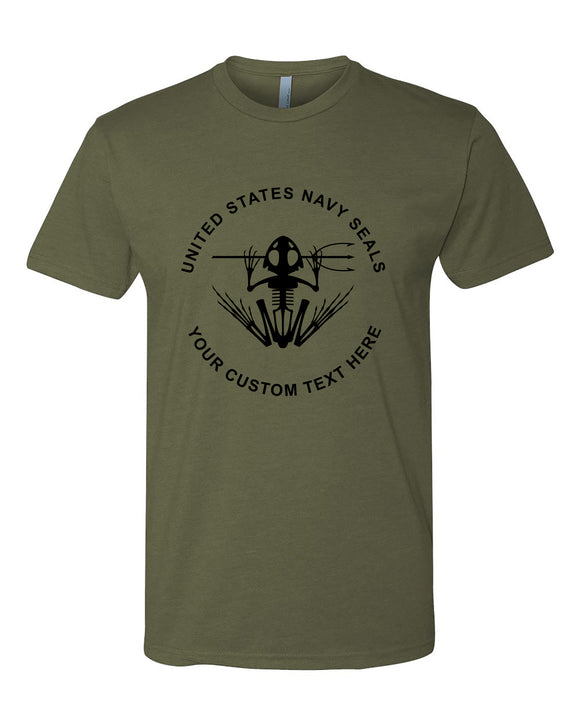 custom text navy seal tshirt