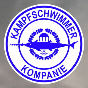 Kampfschwimmer German Combat Swimmer Round Sticker 0941