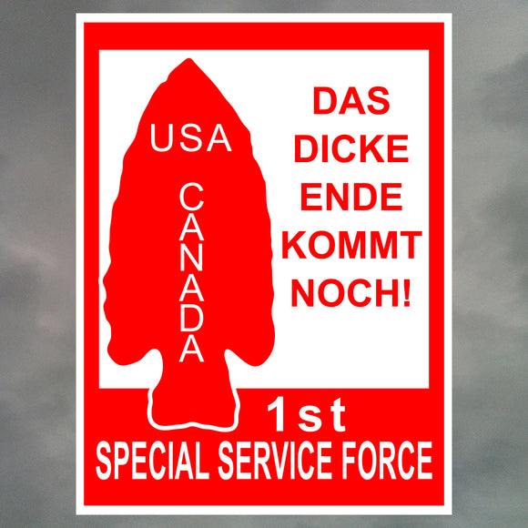1ST SPECIAL SERVICE FORCE STICKERS 1126