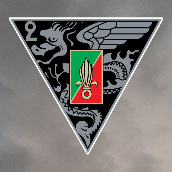 FOREIGN LEGION 2REP INSIGNIA DIE CUT STICKER 1130