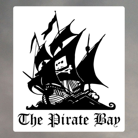 PIRATE BAY ROUNDED CORNER STICKER 1162