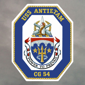 USS ANTIETAM STICKERS 1342