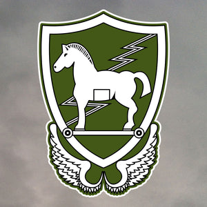 10th Special Forces Group Trojan Horse Die Cut Stickers 1350