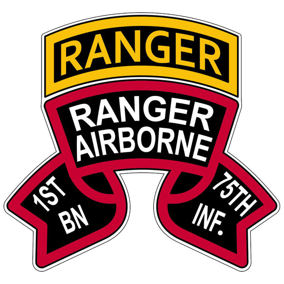 Old School 1st Battalion Ranger Stickers