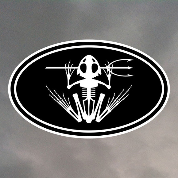 NAVY SEAL FROG OVAL STICKER 0024