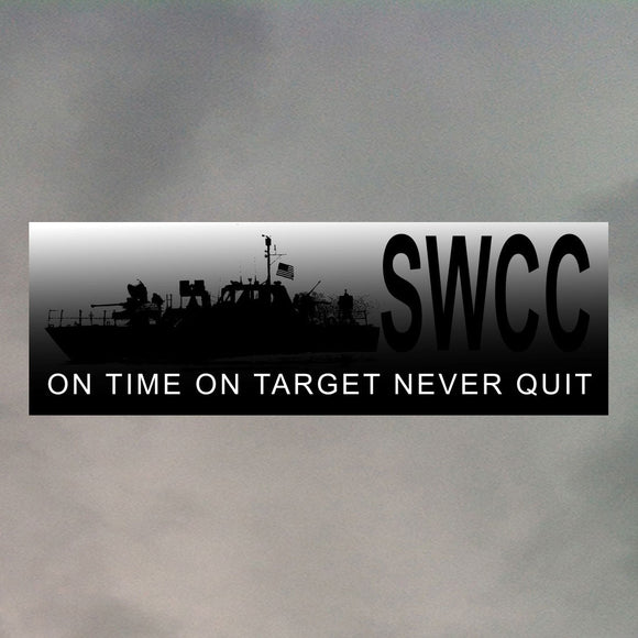 NAVY SWCC BUMPER STICKER B0007
