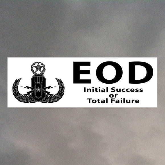 EOD BUMPER STICKER B0009