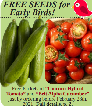 Early Bird Special - 2 Free Seeds Packs