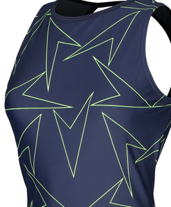 SPEEDO BOOMSTAR ALLOVER TANKINI BOYLEG SHORT SET