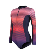 Load image into Gallery viewer, SPEEDO PLACEMENT LONG SLEEVE WRAP BACK 1 PIECE