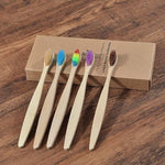 5-Pack Adult Bamboo Toothbrush - Color Mix - Savetheearthbrushes
