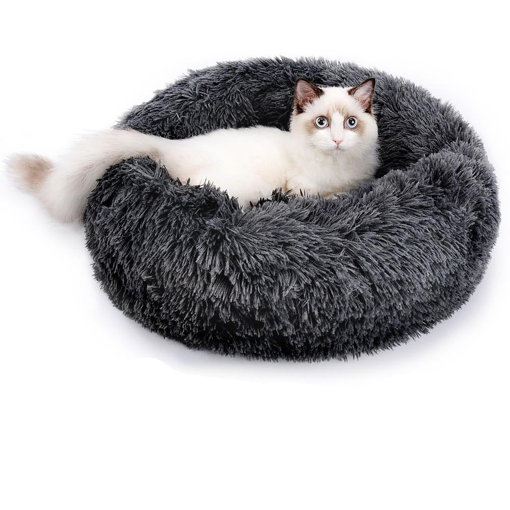 Cat & Dog Plush Snuggle Bed
