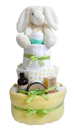 Large 3 Tier Unisex Baby Nappy Cake - Say It Baby