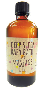 Deep sleep Baby Bath and Massage oil in the Bath Time Baby Unisex Gift Basket