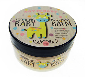 Soothing Boo Boo Balm in the Bath Time Baby Unisex Gift Basket