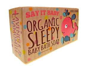 Organic Sleepy Baby Bath Soap in the Bath Time Baby Unisex Gift Basket