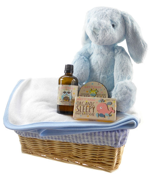Bath Time Baby Boy Gift Basket - Say It Baby