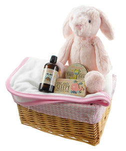 Bath Time Baby Girl Gift Basket by Say It Baby Gifts
