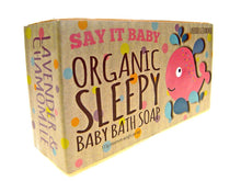 Load image into Gallery viewer, Organic Sleepy soap in the Bath Time Baby Girl Gift Basket