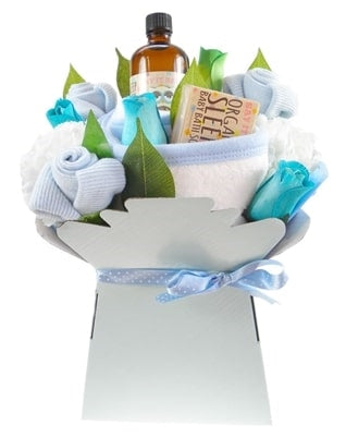 Say It Baby - Baby Boy Bath Time Bouquet