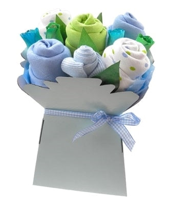 Say It Baby - Baby Boys Muslin Square Bouquet - Say It Baby