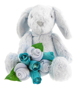 Baby Boy Bunny and Sock Bouquet - Say It Baby