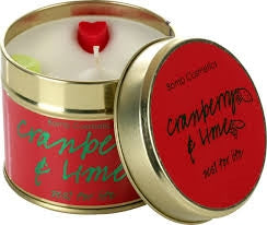 Bomb Cosmetics Cranberry and Lime Tin Candle - Say It Baby