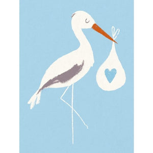 Blue Baby Bundle Stork Card - Say It Baby
