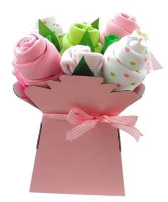 Say It Baby - Baby Girls Muslin Square Bouquet - Say It Baby